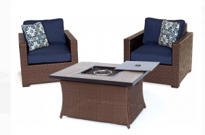 Hanover Metropolitan resin wicker patio chat set
