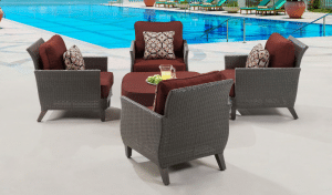 Hanover Savannah Resin Wicker Patio Chat Set
