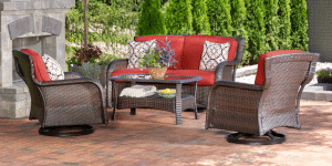 Hanover Strathmere patio conversation furniture
