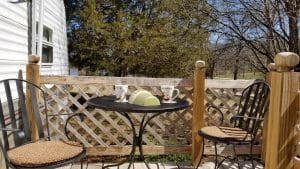Wrought Iron Patio Furniture Sets-my Wrought iron bistro set at the lake