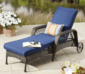 Wicker patio furniture sets-Colebrook chaise lounge