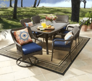 Wicker patio furniture sets-Colebrook dining set