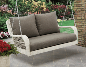 Wicker patio furniture sets-Colebrook porch swing