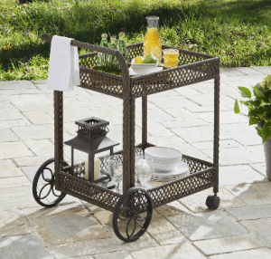 Wicker patio furniture sets-Colebrook serving cart