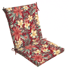 Flowered patio chair cushions