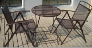 Folding Bistro Wrought Iron Outdoor Furniture Sets