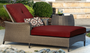 Gramercy resin wicker Lounger
