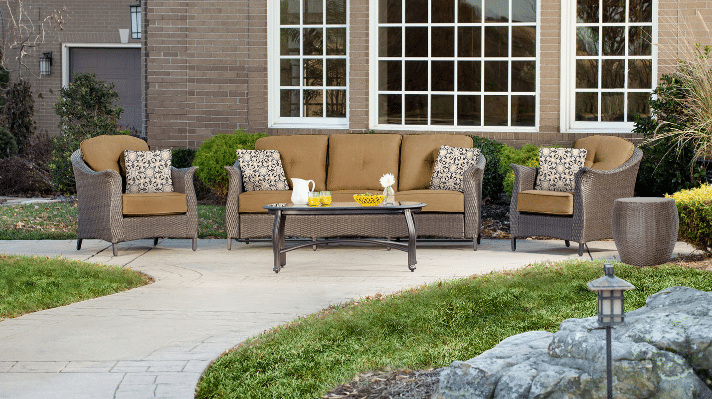 Gramercy resin wicker patio seating set