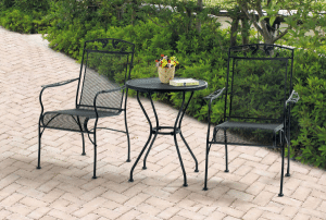 Wrought Iron Patio Furniture Sets-Jefferson Wrought Iron Bistro Set