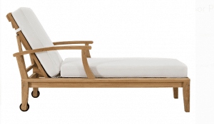 Teak Patio Outdoor Furniture-Modway Marina Teak Lounger