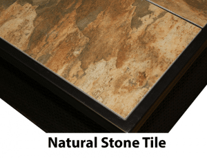 Newport natural stone gas fire pit tile
