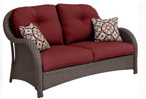 Newport resin wicker Love Seat