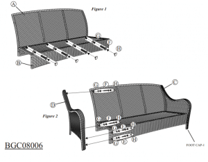 Orleans love seat assembly