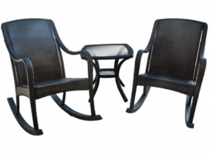 Orleans porch rockers with side table