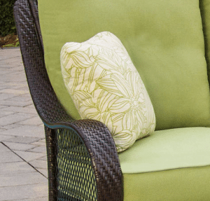 Orleans resin wicker, cushions and pillows