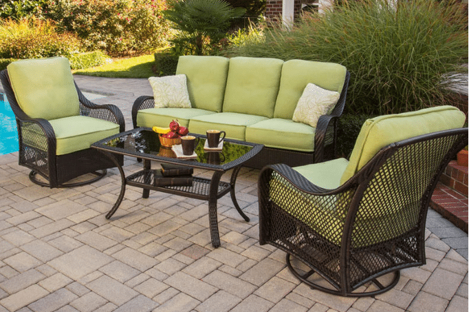Orleans resin wicker patio lounging set