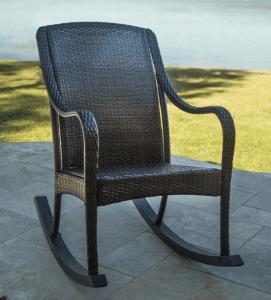 Orleans resin wicker porch rocker