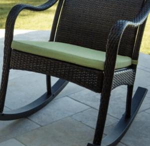 Orleans resin wicker rocker cushion