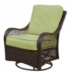 Orleans resin wicker swivel chair
