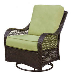 Orleans resin wicker swivel chair