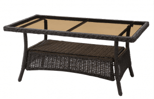 San Marino resin wicker coffee table