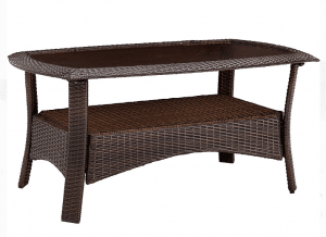 Strathmere resin wicker coffee table