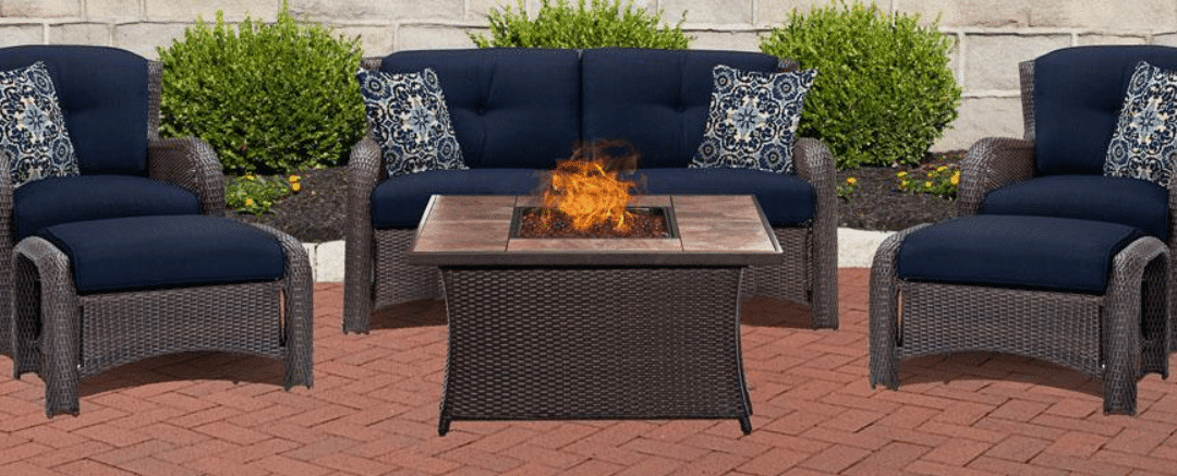Hanover Strathmere resin wicker outdoor furniture collection