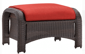 Strathmere resin wicker ottoman
