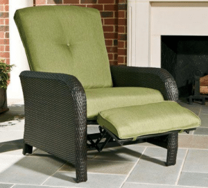 Strathmere resin wicker outdoor furniture sets with recliner
