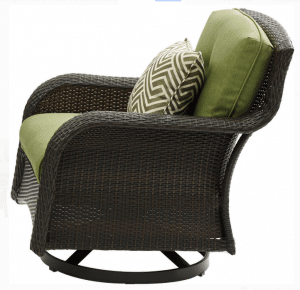 Strathmere resin wicker swivel chair