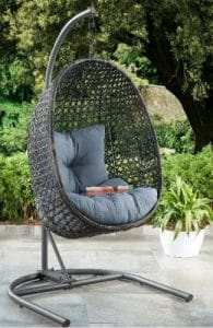 Better Homes and Gardens hanging chair with stand for outdoor use