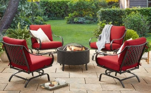 Better Homes&Gardens Brockton patio fire pit chat sets