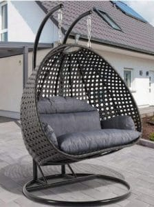 Double seat hanging chair