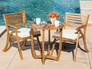 Esme Acacia Wood Bistro Set
