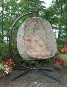 Flowerhouse Hanging Egg Chair for the garden