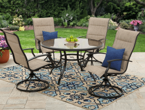 Highland Knolls Sling Chair Patio Dining Set