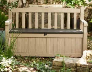 Outdoor Storage Furniture-Keter Eden resin storage bench