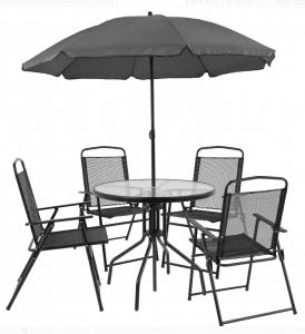 Nantucket dining set with umbrella