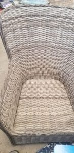 Victoria wicker chairs without cushions