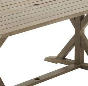 Camrose Farmhouse table top with umbrella hole