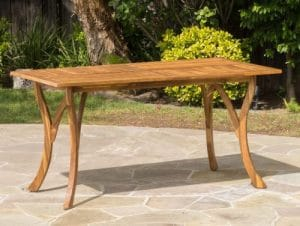 Kamala Acacia Wood Rectangular Patio Table