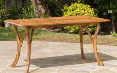 4 Acacia Wood Patio Dining Tables