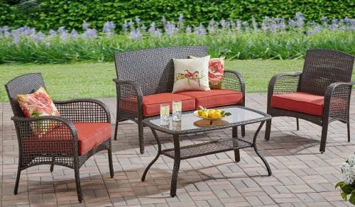Mainstays Cambridge Park Outdoor Wicker Patio Conversation Sets