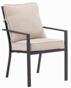 Mainstays Richmond Hills collection chairs with cushions