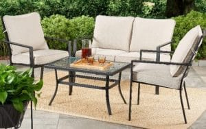 Mainstays Richmond Hills Patio Furniture with Chair Cushions