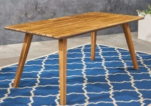Paul Acacia wood patio dining table