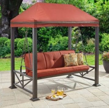 Better Homes and Gardens Sullivan Pointe Patio Swing daybed with Gazebo