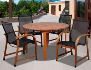 Wooden Outdoor Table and Chairs-Bahamas Wood patio dining set