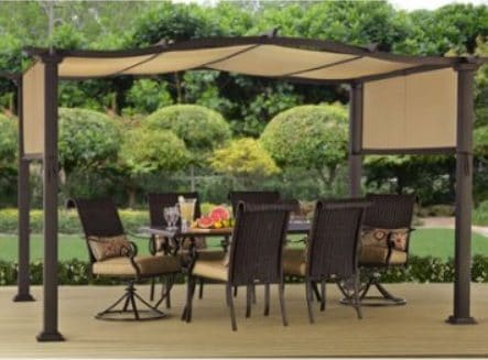 Better Homes & Gardens Emerald Coast Pergola with Fabric Shade Covers