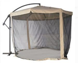 Better Homes and Gardens offset umbrella with mosquito netting